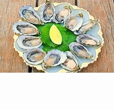 A plate full of Pacific Oysters - a local delicacy. :)